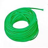 uxcell PET - Funda trenzada expandible para cable (4 mm de diámetro, 13 m), color verde