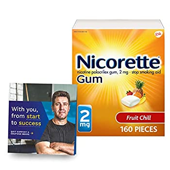 Nicorette Nicotine Gum with Quit Support System- 2mg Clear 160 Count