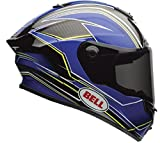 Bell Race Star Full-Face Motorcycle Helmet (Triton Blue/Yellow, X-Small)