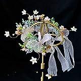 Diadema de lentejuelas,Suministros para la fiesta,moda,Guirnalda hecha a mano Tocado de novia Flor Hilo de seda Accesorios para el cabelloTraje de hadaMori