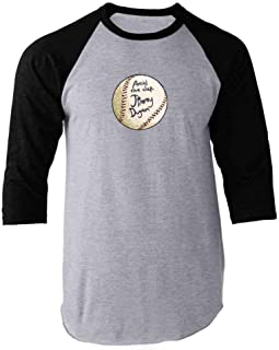 Avoid The Clap Jimmy Dugan Baseball Autograph Raglan Baseball Tee Shirt