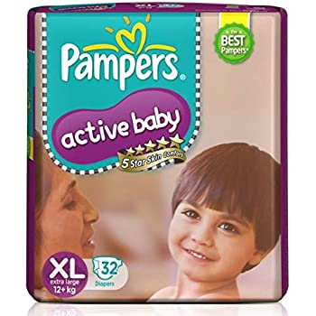 Pampers Active Baby Diapers, XL, 32 Count