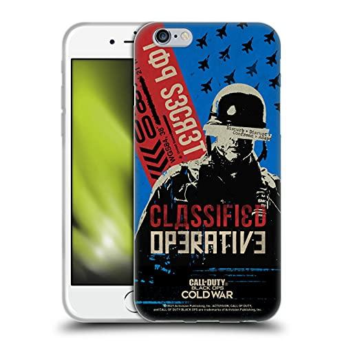 Head Case Designs Licenza Ufficiale Activision Call of Duty Black Ops Cold War Poster di Propaganda operativo Grafiche Cover in Morbido Gel Compatibile con Apple iPhone 6 / iPhone 6s
