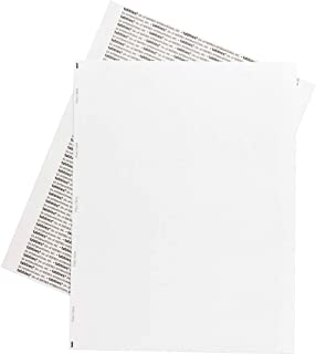 Tabbies Permanent Transcription Label Sheets, Unruled, 59533, White, Box of 100