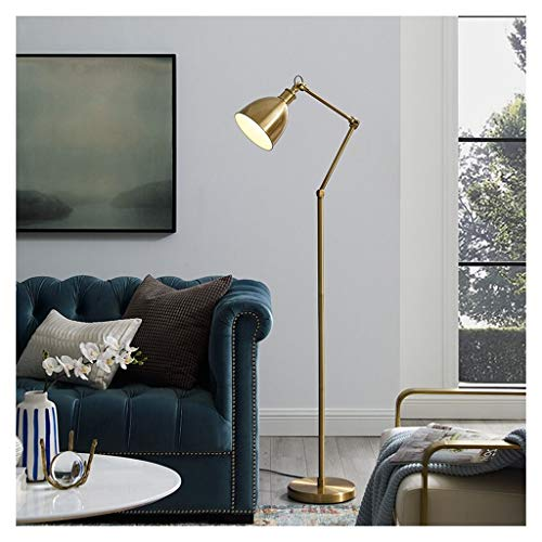 &Tageslicht Stehleuchte Stehlampe Metall vertikale Tischlampe Messing Farbe home Wohnzimmer Leselampe Schlafzimmer Nachttischlampe Innenbeleuchtung Dekoration LED-Leselampe Stehleuchte ( Color : A )