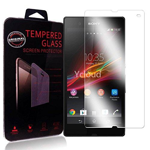 Ycloud Protector de Pantalla para Sony Xperia Z (5Pulgada) Cristal Vidrio Templado Premium [9H Dureza][Alta Definicion]