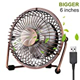 ivoler Mini Ventilateur USB Fan en Aluminium, 360 Degrés Rotation, Portable de 6...
