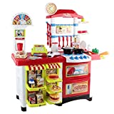 Kids Kitchen Pretend Role Play Supermarket Set Toddler Children Toy Home Food