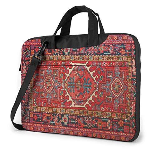 Iran Teppich Oriental Glam Iranisch Ethnisch Traditionell Tribal Tragbar Laptop Umhängetasche Laptop Hülle Business Aktentasche