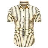 Camiseta Casual Delgada de Manga Corta de Verano para Hombre