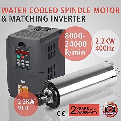 ZauberLu 2,2KW Wassergekühltete Spindelmotor Für CNC Gravieren ER20 Air Cooled Spindle Motor und 2,2KW Frequenzumrichter VFD Inverter Antrieb