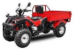 Bygget- upp Jinling 200cc Dumper Automatisk + RG | CVT Växellåda | Lastningsområde | Nyttolast (Svart)