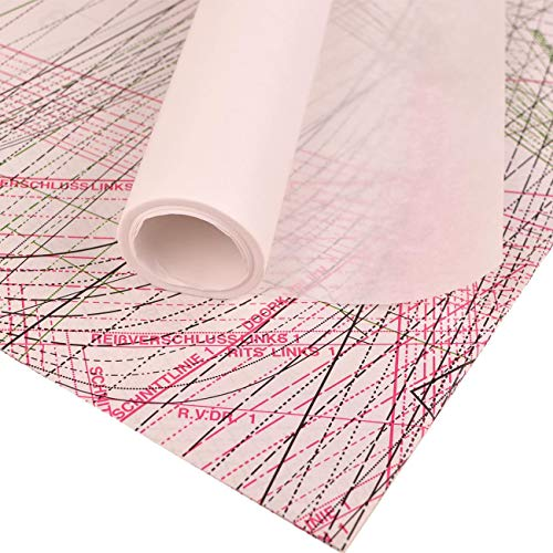 Schnittmusterpapier 15m x 60cm - Blanko Schnittmusterpapier | Transparentes Papier für Schnittmuster u.a. Kreativarbeiten (Zeichenpapier, Transparentpapier, Skizzenpapier) - Schnittmusterpapier weiß