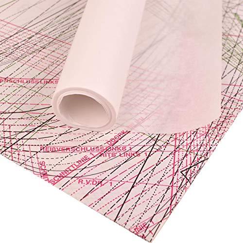 Schnittmusterpapier 10m x 100cm - Blanko Schnittmusterpapier | Transparentes Papier für Schnittmuster u.a. Kreativarbeiten (Zeichenpapier, Transparentpapier, Skizzenpapier) - Schnittmusterpapier weiß