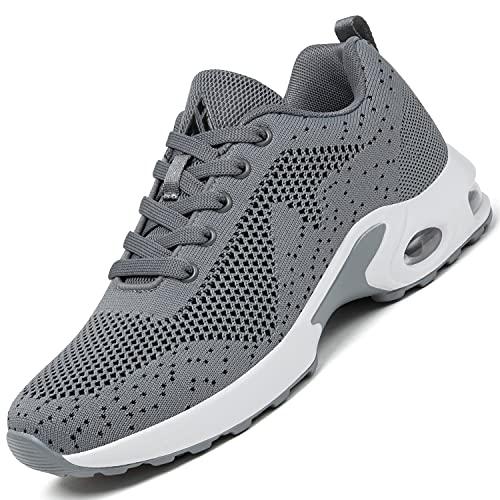 Mishansha Air Zapatillas de Deportes Mujer Ligeros Zapatos de Correr Femenino Antideslizante Calzado Gimnasio Sneakers Fitness Gris N Gr.37