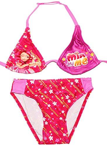 alles-meine.de GmbH Bikini / Triangel Bikini -  Mia and Me  - Größe 4 bis 5 Jahre - Gr. 110 bis 116 - für Mädchen Kinder - rosa / Zweiteiler - zweiteilig - Einhorn Yuko Onchao ..