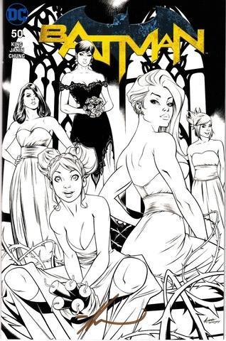 Batman 50 Coliseum of Comics Ale Garza Black and White...