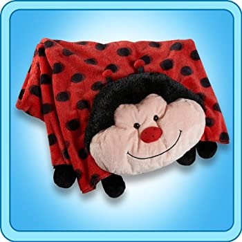 The Original My Pillow Pets Lady Bug Blanket  Red and Black