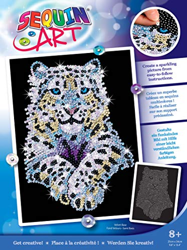Sequin Art 1404 Snow Leopard Craft Kit From The Blue Range
