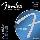 Fender, accessori in acciaio nichelato Roundwound, per bassi 1 10-46 Pure Nickel 150's