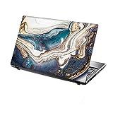TaylorHe Folie Sticker Skin Vinyl Aufkleber mit bunten Mustern für 15 Zoll 15,6 Zoll (38cm x 25,5cm) Laptop Skin Fließend Energie, blau