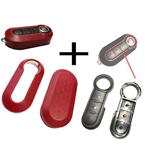 1 Stück Für Bravo Evo Doblo Schlüssel Funkschlüssel Autoschlüssel Tastenfeld Gummi + Gehäuse