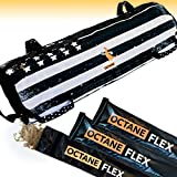Octane Flex Adjustable Sandbags for Fitness 75lb - Home Workout Sandbag Set with 3 x Filler Bags and Exercise Poster - Training Weighted Sand Bag Equipment with Handles for Gym & Crossfit USA (75)