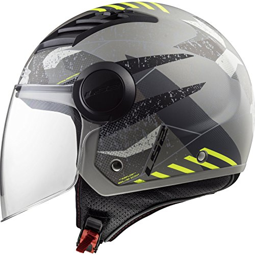 CASCO LS2 OF562 AIRFLOW CAMO MATT TITANIUM YELLOW -TAGLIA M-
