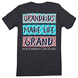 Southern Couture Classic Grand Kids Make Life Grand Womens T-Shirt - Dark Heather