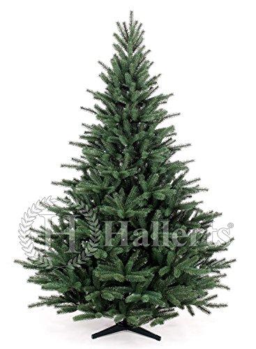 Original Hallerts® Spritzguss Weihnachtsbaum Richmond 180 cm Edeltanne - Christbaum zu 100{a2e832eac22ca3d75fcca66665e6e747b3e3f0947adedaa53666be2a89ce0d63} in Spritzguss PlasTip® Qualität - schwer entflammbar nach B1 Norm, Material TÜV und SGS geprüft - Premium Spritzgusstanne