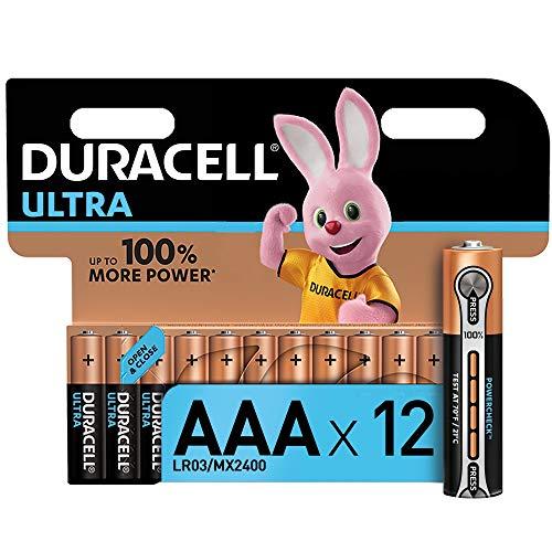 Duracell Ultra AAA Micro Alkaline Batterien LR03, 12er Pack