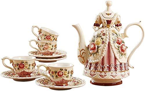 Té de la tarde Set de té de cerámica china de la princesa de la tetera turca juego de té de porcelana real conjunto de té adulto taza de té y platillo regalo de hueso británico china