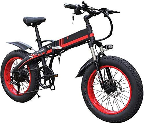Alta velocidad Bicicletas eléctricas for adultos 1000w eléctrica plegable de la bici 20inch borde ancho de 7 velocidades Ebike con 48v 14ah batería de litio extraíble Potente Todo Terreno Playa bicicl