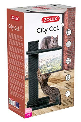 Zolux - Albero tiragraffi City Cat 2, Colore: Grigio