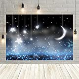Bebé recién Nacido Estrellas Luna Noche Brillo Luces Baby Shower decoración Fiesta de cumpleaños telón de Fondo Estudio fotográfico Personalizado Vinyl-250x180cm