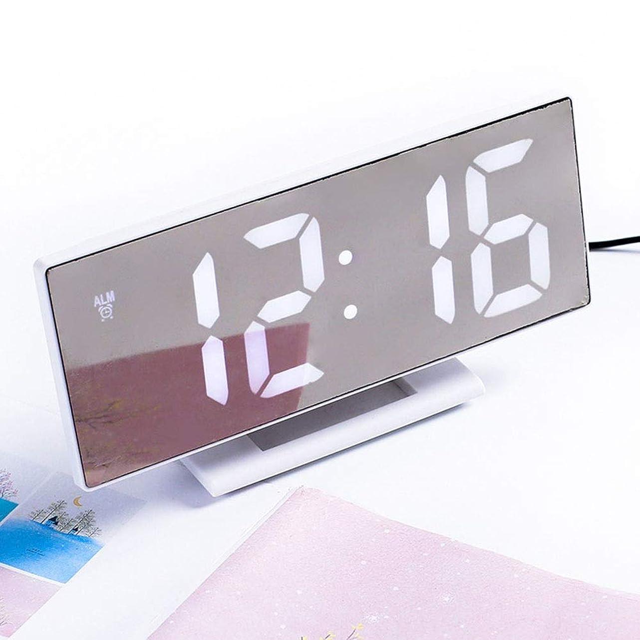 人形生態学絶望的なLVESHOP デジタル目覚まし時計LEDミラークロック多機能スヌーズ表示時間ナイトテーブルデスクトップオフィスホーム寝室 (色 : T3)