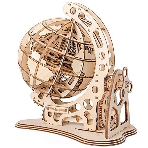 DAN Puzzle Madera Maquetas Globo para Montar 3D Modelo Mecánico Kit De Construcción para Adolescentes y Adultos