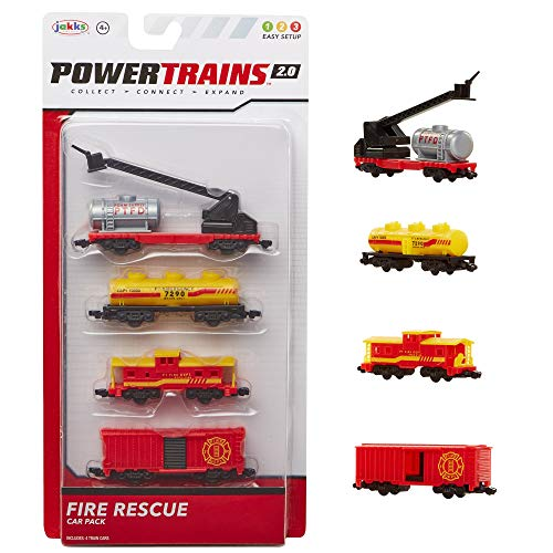 Power Trains Car Pack Series 2, Set of 4 Train Cars