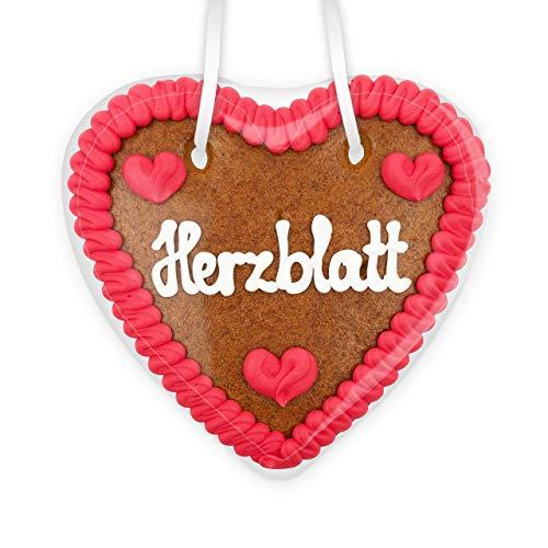 Lebkuchenherz, 14cm - Herzblatt