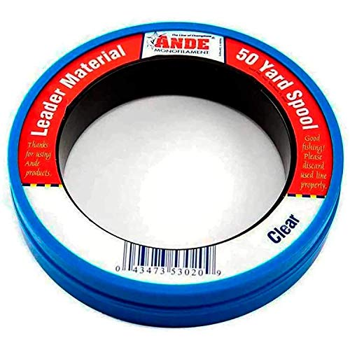 Ande PCW50-40 Mono Leader Wrist, 50-Yard Spool, 40-Pound
