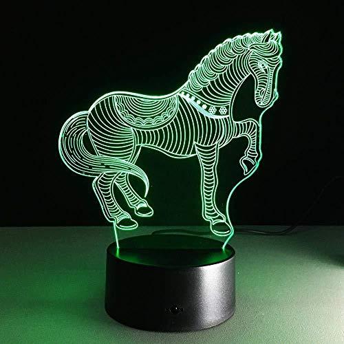 DMYDMY Le Diaporama 3D En Trois Dimensions Présente La Veilleuse D Lampe De Table Fantôme Mood Touch 7 Festival De Décoration De Lumière À La Maison Couleur Fès Cadeau De Décoration