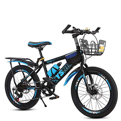 Estudiante de bicicletas de montaña, doble disco de freno Niños velocidad 6-13 años niños y niñas de la escuela primaria de bicicletas, 20/22 pulgadas Juvenil de bicicletas, BTT, Rosa, 22inches KaiKai