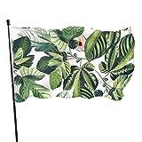 Bandera de jardín Patio al aire libre con ojales de latón higos hoja jardín hojas de higo bandera mosca decoración interior del hogar
