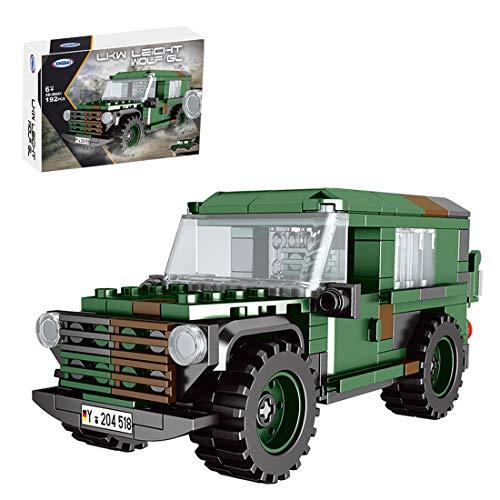 HYMAN Vehículo militar, 192 piezas 1:30 DIY Asamblea Militar Serie LKW Fuerzas del Ejército Juguetes de ladrillos para niños y adultos, compatible con Lego