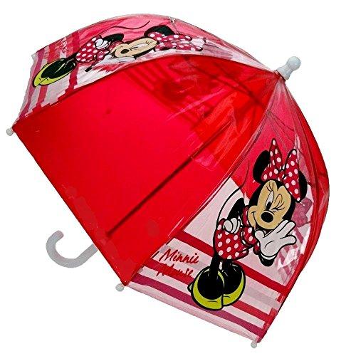 Disney Minnie Mouse Mini dôme imperméable-Parapluie Enfant Mad About Minnie Rouge