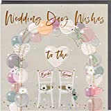 Belly Button Designs BE226 - Tarjeta de felicitación para boda con relieve y cristales, ideal también para regalar dinero o cupones