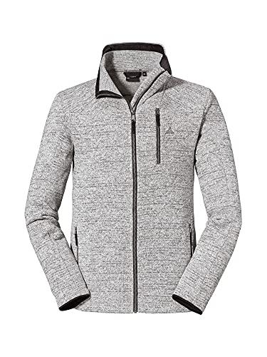 Schöffel Herren Fleece Jacket Awatea M warme Fleecejacke mit Sticklogos, atmungsaktive, schnell trocknende Outdoorjacke, grau, 50
