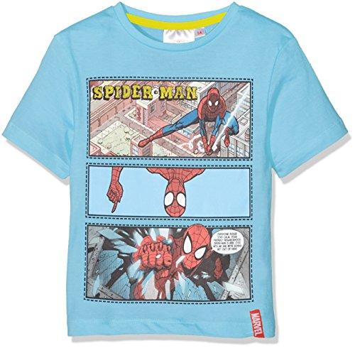 DC Comics Spiderman Camiseta, Azul Blue, 5-6 (Tamaño Fabricante:6 años) para Niños