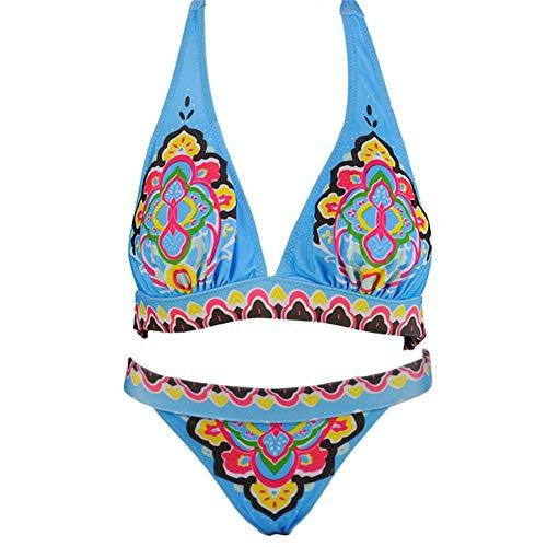 Westerse stijl speciaal patroon ontwerp split zwempak bikini pak geschikt voor vrouwen zomer strand zwemmen