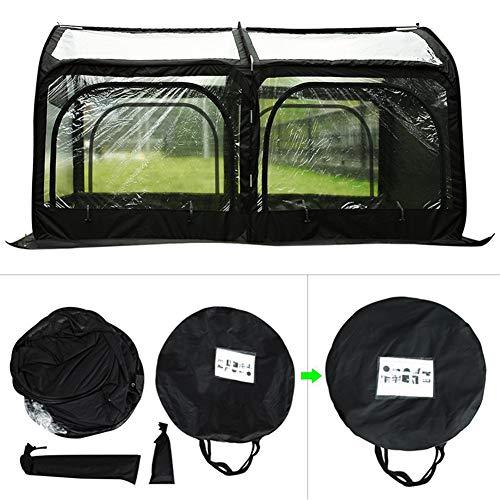 ZDYLM-Y Mini Invernadero, túnel de PVC Transparente Plegable, Invernadero para jardín con 2 Ventanas con Cremallera, para Plantas, Hierbas y Verduras,Negro